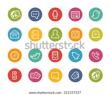 Social Network Icons // Printemps Series - stock vector