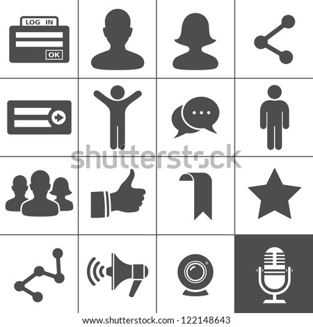 Social Network Icons. Simplus series. Vector illustration - stock vector