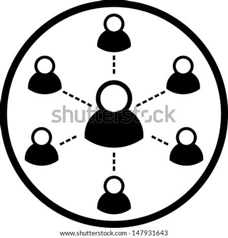 Social network vector icon  - stock vector