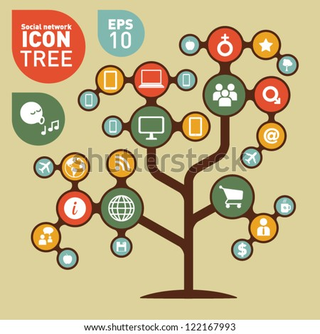 Social Networking Creative Icon Collection - stock vector