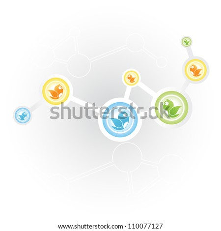 Social Networking (Social media networking) - stock vector