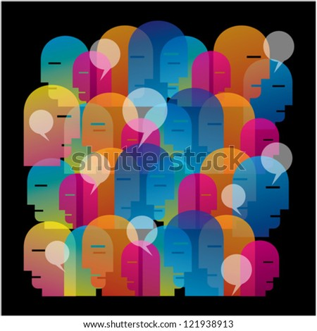 social networking vector - stock vector