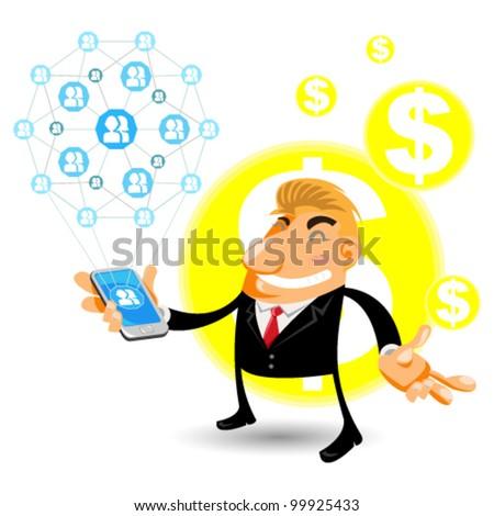Social Networks Mobile - stock vector