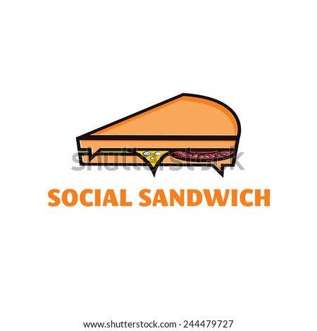 social sandwich concept vector design template - stock vector