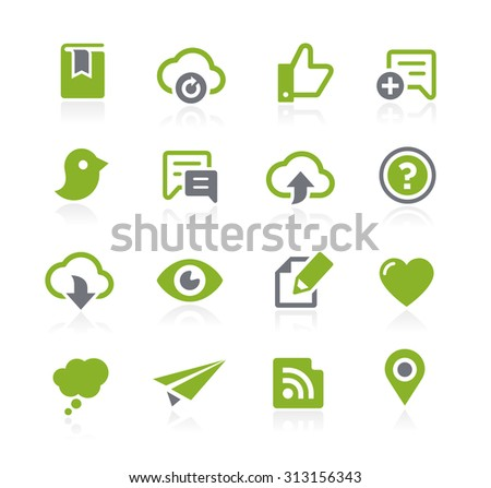 Social Sharing Icons // Natura Series - stock vector