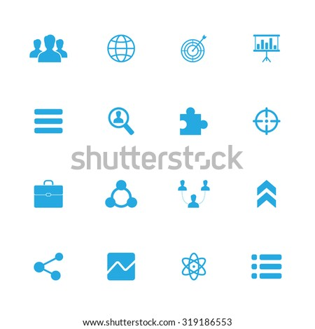 Social vector icons set for web and mobile - stock vector