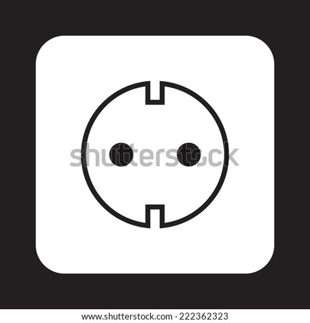 Socket icon on dark background - stock vector