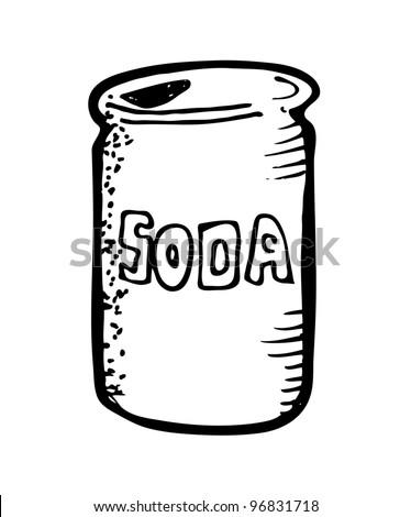 soda drink cartoon doodle - stock vector