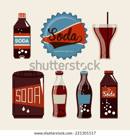 soda graphic design , vector illustration - stock vector