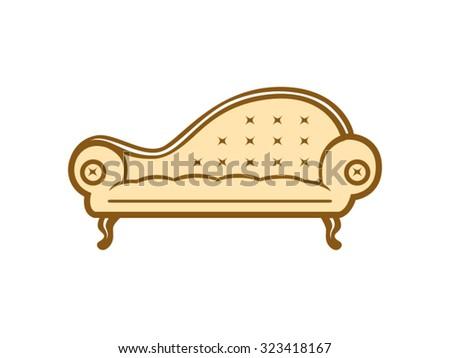 Sofa Antique Furniture - stock vector