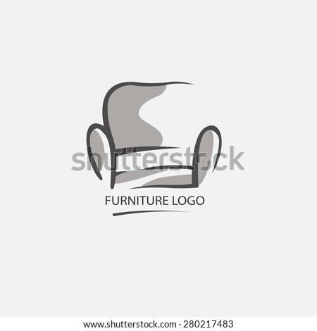 Sofa furniture logo for your business. Element design vector set - stock vector