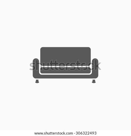 sofa icon - stock vector