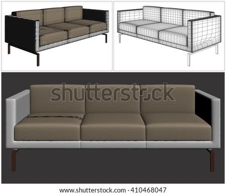 Sofa Vector 22 - stock vector