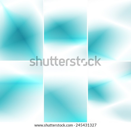 Soft blue background & business card set. - stock vector