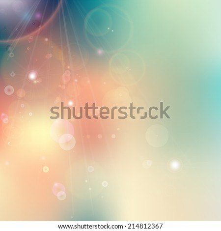 Soft colored abstract background with four seasons concept design. - stock vector
