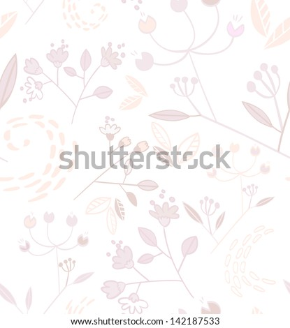 Soft floral seamless pattern - stock vector