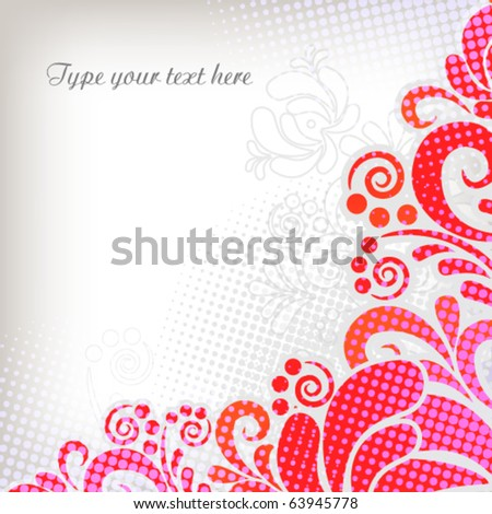 Soft floral vector background in classic style - stock vector
