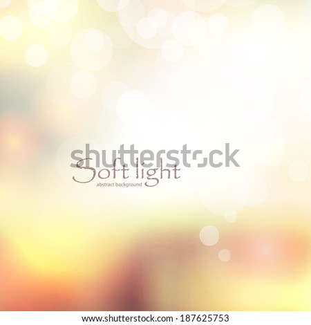 soft light abstract background - stock vector