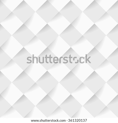 Soft white square pattern wallpaper, website or cover background - stock vector