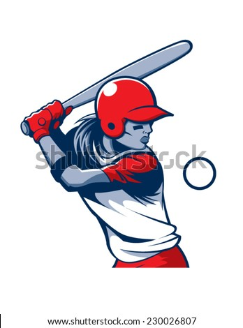 Softball - stock vector