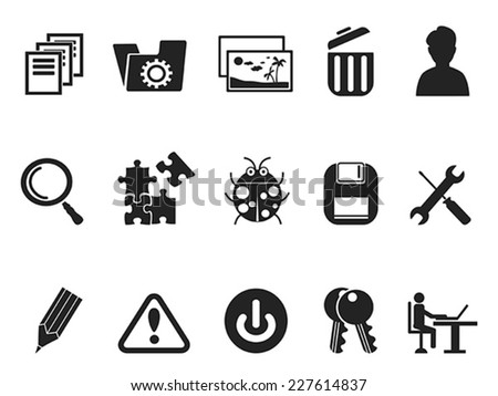 Software and IT program Developers icon set - stock vector
