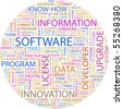SOFTWARE. Illustration with different association terms in white background. - stock vector