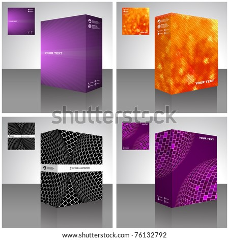 Software package box. Product vector design. - stock vector