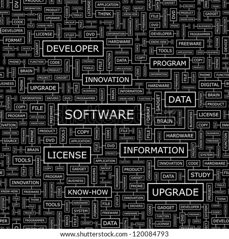 SOFTWARE. Seamless vector pattern. - stock vector