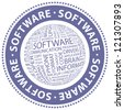 SOFTWARE. Word collage. Vector stamp. - stock vector
