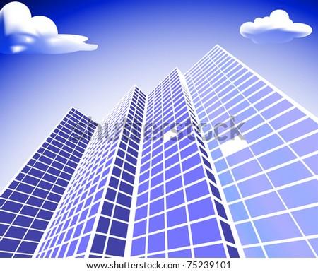 Solar architecture - stock vector