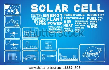 solar cell energy - stock vector