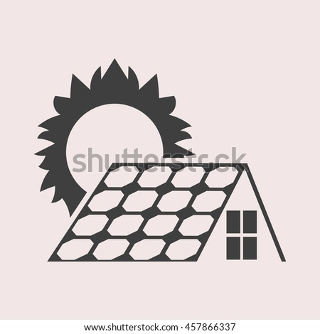 Solar collector web icon. Isolated illustration - stock vector