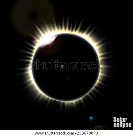 Solar eclipse - stock vector