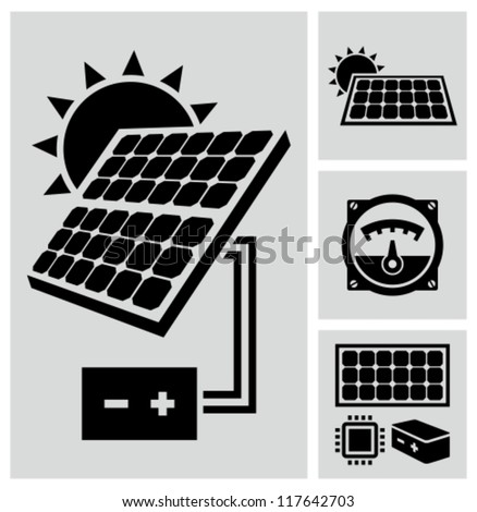 Solar energy - stock vector