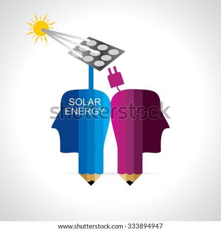 solar energy concept vector illustration  - stock vector