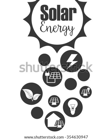 solar energy design, vector illustration eps10 graphic  - stock vector