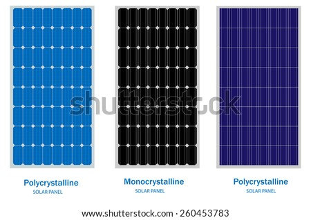 Solar Panel, green energy and renewable concept - stock vector