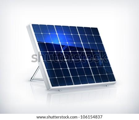 Solar panel, vector - stock vector