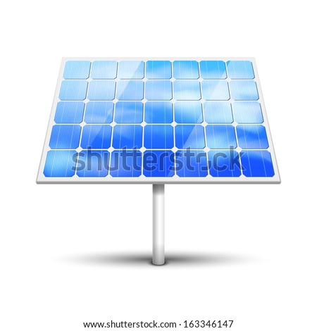 Solar panel vector illustration isolated on white - stock vector