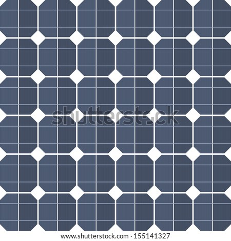 Solar panels as a background - stock vector
