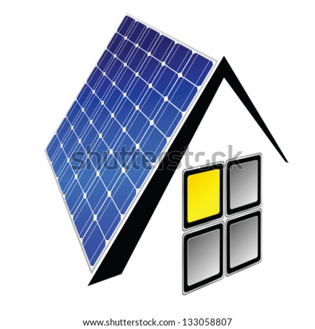 solar panels vector illustration - stock vector