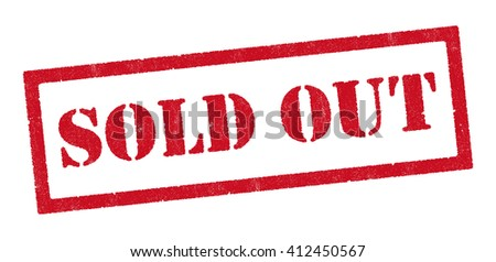 Sold Out red stamp - stock vector