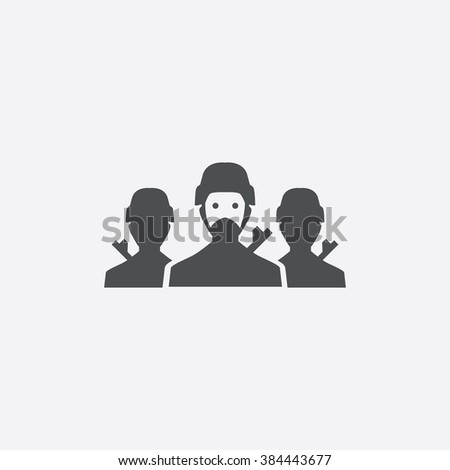 soldier group Icon. soldier group Icon Vector. soldier group Icon Art. soldier group Icon eps. soldier group Icon Image. soldier group Icon logo. soldier group Icon Sign. soldier group Icon Flat - stock vector
