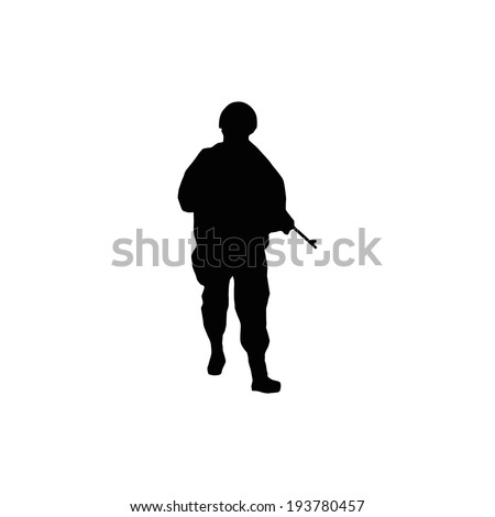 Soldiers silhouettes - stock vector