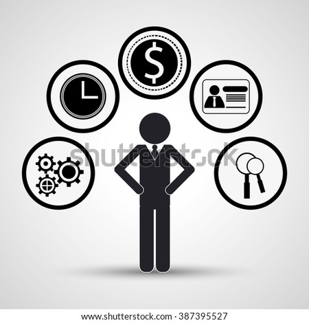 solution and communication con design  - stock vector