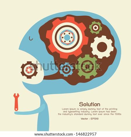 Solution conceptual, vector - stock vector