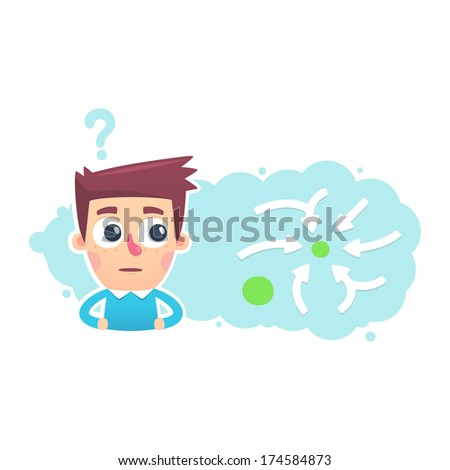 solution of strategic tasks - stock vector