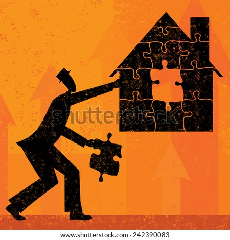 Solving Home Mortgage Problems - stock vector