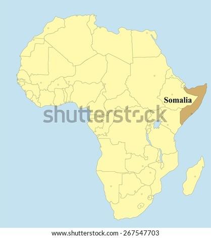 Somalia - stock vector