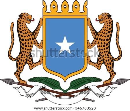 Somalia Coat of arm - stock vector